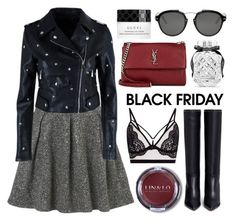 """""""Steal Those Deals: Black Friday Shopping"""" by julijana-k ❤ liked on Polyvore featuring Yves Saint Laurent, Nasty Gal, Valentino, Victoria's Secret, Christian Dior and Gucci"""