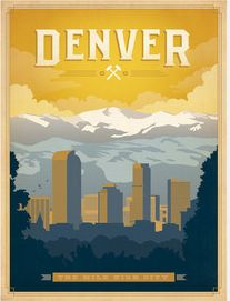 vintage Denver, Colorado travel poster!