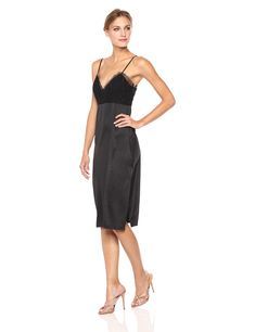 ab0fd3bfb4b BCBGeneration Womens Slip Dress Black 10     See this great product. (This