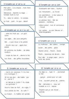 Évaluations sur les homophones grammaticaux, niveau CM1 et CM2