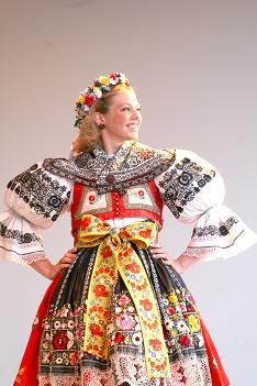 "!Kyjov"" folk costume (South Moravia), Czechia"