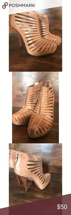 BCBG GENERATION  platform booties 8.5 Great shoe distressed leather upper hidden platform super comfortable to walk in and very cute on! BCBGeneration Shoes Ankle Boots & Booties