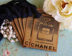 7bd40fa42 Gift Tags Vintage Chanel No5 Perfume Bottle by asweetlittlenote, $6.50  Chanel Geburtstagsparty, Chanel Party