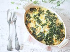 Gratin of Swiss chard without béchamel * . - Swiss chard gratin without béchamel sauce - Salad Recipes Healthy Lunch, High Protein Vegetarian Recipes, Healthy Meal Prep, Easy Healthy Recipes, Healthy Food, Clean Eating Vegetarian, Vegetarian Meals For Kids, Bechamel, Coco