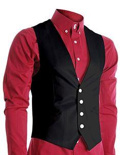 FLATSEVEN Mens Slim Fit Business Casual Premium Vest Black, Mens L (Chest 42) FLATSEVEN http://www.amazon.com/dp/B00U8TXODS/ref=cm_sw_r_pi_dp_LFLbvb1VTB874 #FLATSEVEN #VEST #WAISTCOAT