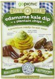 nice GoPicnic Gold Star Premium Ready-to-Eat Meals Edamame Kale Dip & Plantain Chips (Pack of 6) / www.dietforfun.co...