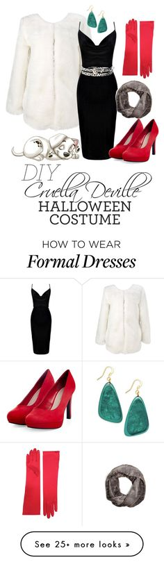 """""""Cruella Deville Halloween Costume"""" by skybeauty1109 on Polyvore featuring Style & Co., Angie, Disney, GUESS and halloweencostume"""