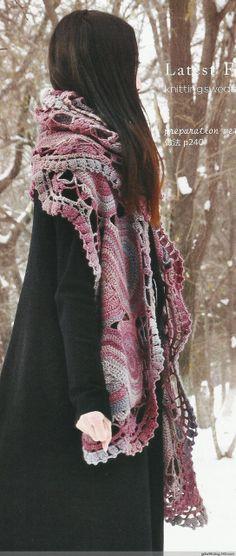 So schön !!! Häkeln Schal Tuch Stola / crochet shawl scarf