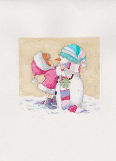 Annabel Spenceley - girl and snowman.jpeg