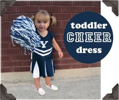 V-I-C-T-O-R-Y, Give this toddler cheer dress the college try (Nap Time Crafters)