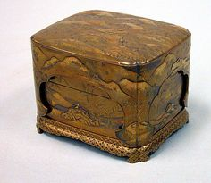 Kobako  Date: 17th century Culture: Japan Dimensions: 4 x 5 3/4 x 5 in. (10.2 x 14.6 x 12.7 cm) Classification: Lacquer