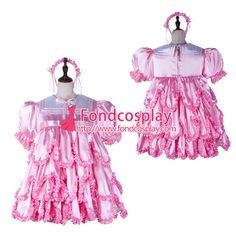 adult baby Sissy maid satin dress lockable Uniform Tailor-made[G2366] #Sissy maids http://www.ku-ki-shop.com/shop/sissy-maids/adult-baby-sissy-maid-satin-dress-lockable-uniform-tailor-made-g2366/