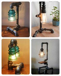 Lámparas hechas con tuberías   Hacer bricolaje es facilisimo.com