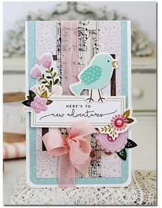 New Adventures Card by Melissa Phillips *see the color photo on the sidebar*     Supplies:       Simple Life Music Paper by Pebbl...