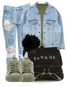 """""""008"""" by heroinmother ❤ liked on Polyvore featuring WearAll and adidas"""