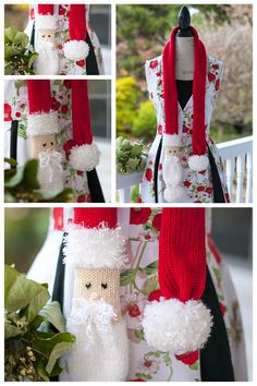 Free loom knitting pattern, loom knit santa scarf pattern by This Moment is Good, designs by Nicole F. Cox.