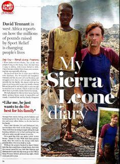 David Tennant Visits Sierra Leone For Sport Relief   DAVID TENNANT NEWS UPDATES