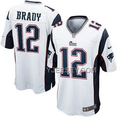 http://www.yjersey.com/nike-patriots-12-brady-white-game-jersey-cheap.html #NIKE PATRIOTS 12 BRADY WHITE GAME JERSEY #CHEAPOnly$36.00  Free Shipping!