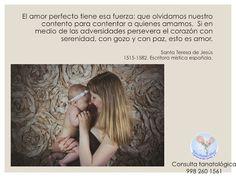 El amor perfecto mantiene el corazón con serenidad, con gozo y con paz. Consulta tanatológica 998 260 1561 Cita en línea: http://www.renacercancun.com/citas-y-ho…/cita-en-l%C3%ADnea/