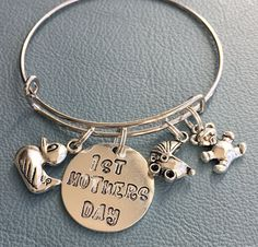 Silver Tone 1st Mother's Day Alex and Ani Inspired by Arrimage