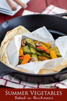 Summer Vegetables Baked in Parchment   Easy Japanese Recipes at JustOneCookbook.com