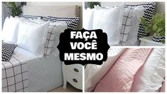 Bed Cover Design, Bed Covers, Home Projects, Bed Pillows, Pillow Cases, Sewing Patterns, Bedroom, Diy, Youtube