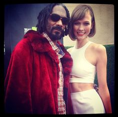 Karlie Kloss & Snoop Dogg (+ other model Instagram shots via ITG slideshow)