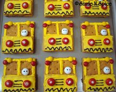 Yellow School Bus Graham Cracker Treats for the First Week of School