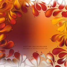Abstract Red Orange Arc-Drop Background Design #freevectors