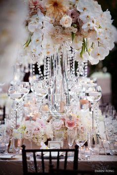 Romantic and glamorous vintage wedding