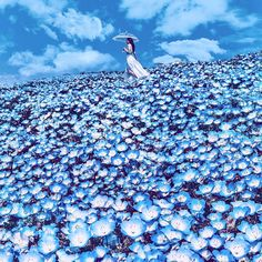 ― Kristina Makeeva↟Kotleta↟Timonさん( 「Hitachi Seaside Park, Japan 🇯🇵& У меня от этого синего уже рябит в глазах. Hitachi Seaside Park, Cool Photos, Beautiful Pictures, Amazing Photos, Like Image, Fantasy Photography, Foto Art, Jolie Photo, Photomontage