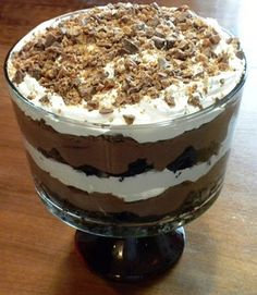 Death by Chocolate Trifle | Pam's Midwest Kitchen Korner..... Love this stuff