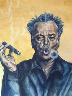 Jack nicholson smoking a cigar by JesekaBrownArtwork on Etsy Car Part Furniture, Automotive Furniture, Automotive Decor, Cigars And Whiskey, Cuban Cigars, Cigar Quotes, Cave Images, Cigars And Women, Cigar Art