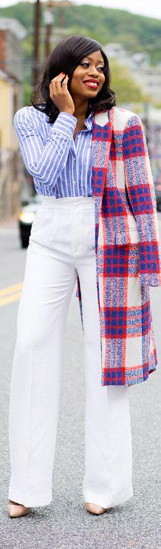 Stripes + Plaid / Fashion By Jadore-Fashion