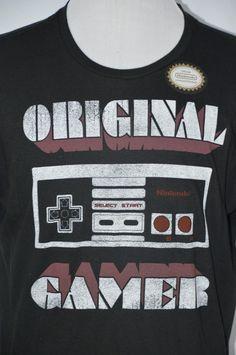 Nintendo Entertainment System Mens XL Original Gamer Super Nintendo T-Shirt Super Nintendo, Nintendo Entertainment System, Gamer T Shirt, Mens Xl, Entertaining, The Originals, Shirts, Shoulder, Ebay
