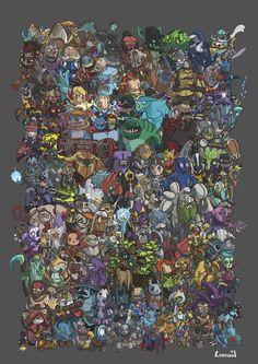 DOTA 2 Plushie Heroes by Robbobin