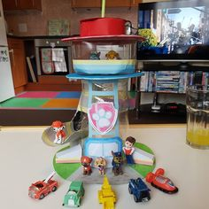 I made my two year old a Paw Patrol tower as she loves the show so much. #pawpatroltower #nickjr