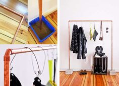 8 DIY Storage Solutions for a Closet-less Room Pipe Clothing Rack Diy Storage, Storage Spaces, Spice Storage, Bedroom Storage, Storage Organization, Storage Ideas, Organizing, Pipe Closet, Closet Racks