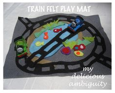 My Delicious Ambiguity: DIY Felt Play Mats: Construction & Trains