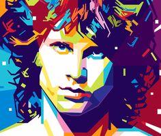 Jim Morrison   Dec. 8th Imagem da ilustração Touch Me por Gilar Artoholic