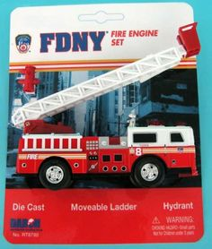 Fdny Ladder Truck Playset by DARON WORLDWIDE. $10.20. Moving arm. Extension ladder. Rubber tires. squil fashion pin