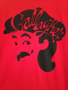 1981 Gallagher Comedian red deadstock tee by twinflamesboutique