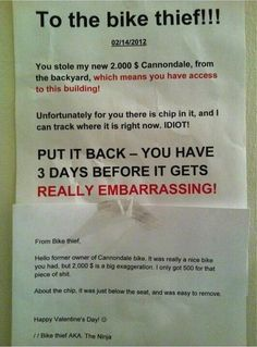 The Smug Thief Response | The 26 Funniest Responses To Passive Aggressive Notes