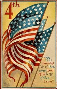 old forth of July poster
