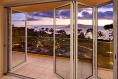 Folding glass doors in Hawaii! #NanaWall #Sunset #foldingdoors #Hawaii