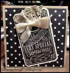 Stampin' Up! Chalk Talk ...Several these going out to stamping friends today!  www.inkandinspirations.com
