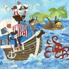Oopsy Daisy too Pirates Canvas Wall Art