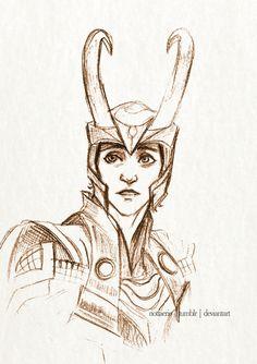 Loki - Stolen Relic Sketch by ~RiotFaerie on deviantART