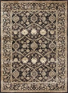 """Traditional Mystique Hallway Runner 2'6""""x7'9"""" Runner Expresso Area Rug traditional-rugs"""