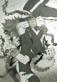 Katsuki, Eijirou, chains, masks, muzzles; My Hero Academia